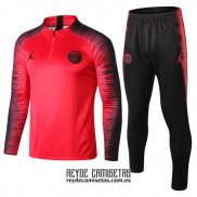 Chandal del Paris Saint-Germain Jordan 2018-2019 Rojo