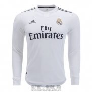 Camiseta De Futbol Real Madrid Primera Manga Larga 2018-2019