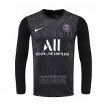 Camiseta De Futbol Paris Saint-Germain Portero Manga Larga 2020-2021 Negro