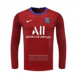 Camiseta De Futbol Paris Saint-Germain Portero Manga Larga 2020-2021 Rojo