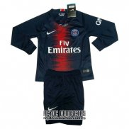 Camiseta de Futbol Paris Saint-Germain Primera Nino Manga Larga 2018-2019