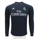 Camiseta de Futbol Real Madrid Segunda Manga Larga 2018-2019